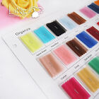 Satin Organza Polyester Ribbon Fabric Color Chart Sample Swatch Card