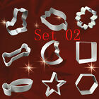 NEW 2 sets birthday fondant cake decorating icing sugarcraft cutters moulds AAC