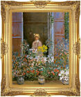 Framed Canvas Giclee Art Print Camille at the Window Claude Monet Painting Repro
