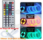 5M 300LEDs SMD 3528 RGB Fita LED Light Strip Lamp+44 Key RGB IR Remote Controlle