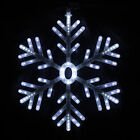 156 LED Snowflake Fairy Light Party Christmas Festival Window Tree Decoration