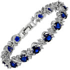 Fashin Jewelry Round Cut stone white Gold Plated Statement Bracelet
