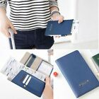 Men Womens Travel Passport Holder Flip Wallet Purse ID Card Organizer Case Cover