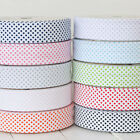 5 Metres of 30mm Reverse Polka Bias Binding Extra Wide Quilting Tape Bright Colo
