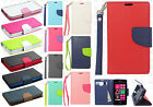 Nokia Lumia 521 Premium Leather 2 Tone Wallet Pouch Flip Cover + Screen Guard