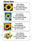 30 Sunflower Personalized Address Labels