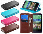 For HTC Desire 510 Premium Wallet Case Pouch Flap STAND Cover + Screen Protector
