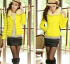Ladies Candy Color Korean Thickening Down Padded Jacket Slim Short Coat New - CB