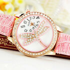 New Beautiful Sheet Dragonfly Design Women's Girl's Quartz Analog Watches, QT8