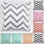 Vintage Retro Home Decor Cotton Cushion Cover Pillows Case Zig Zag Wave 45*45cm
