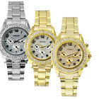 PAIDU 18K Gold/Silver Plated Crystal Case Ladies Womens Watches Quartz Montres