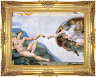 Framed Christian Art The Creation of Adam Michelangelo Buonarroti Painting Repro