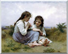 Stretched Fine Art Print Childhood Idyll William Bouguereau Repro Canvas Giclee