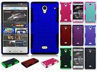 For Sharp Aquos Crystal MESH Hybrid Hard Silicone Rubber Skin Case Phone Cover