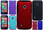 For Nokia Lumia 530 MESH Hybrid Silicone Rubber Skin Case Phone Cover Accessory