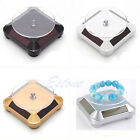 Solar Showcase 360 Turntable Rotating Jewelry Phone Watch Ring Display Stand