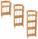 Folding Pine Wooden Display Book Shelve Shelving Shelf Storage Unit Case Cabinet