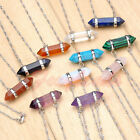 Wholesale Crystal Quartz Hexagonal Pointed Reiki Chakra Gems Pendant Necklace