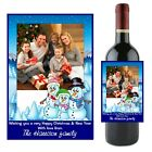 Personalised CHRISTMAS XMAS Wine Champagne Bottle Label N46 ~ Great Gift Idea
