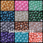 30pcs/100pcs Charm Round Glass Pearl Loose Spacer Beads 8mm 12 Color U Pick