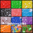 50pcs Acrylic Cat's Eye Charm Round Loose Spacer Beads 9X5mm