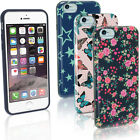 Floral Stars Butterfly Pattern TPU Gel Case for Apple iPhone 6 6S 4.7 Skin Cover