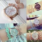 Women Geneva Roman Numerals Analog Faux Leather Chic Stylish Quartz Wrist Watch
