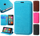 Nokia Lumia 530 Leather Wallet Case Pouch Flap STAND Phone Cover + Screen Guard