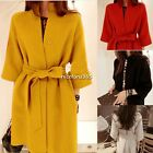 Women Winter Warm Sexy thickened Single breasted Casual Jacket Coat Trench Parka