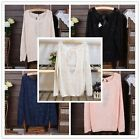 2014 New Hot Womens Long Sleeve Sequins Fashion Bow Back Loose Tops Sweater - CB