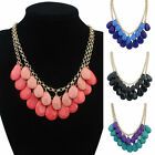 Fashion Crystal Bib Statement Pendant Choker Collar Necklace Chain Jewelry