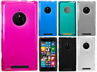 AT&T Nokia Lumia 830 TPU CANDY Flexi Gel Skin Case Phone Cover +Screen Protector