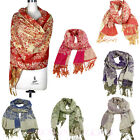 Lady Women Soft Warm Hood Cowl Jacquard Pashmina Warm Winter Shawl Scarf Wraps