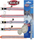 TRIXIE REFLECTIVE CAT COLLAR With or Without a 20mm ENGRAVED PET ID TAG / Tags