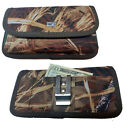 Canvas Camouflage Hunter Horizontal Pocket Case fits Straight talk ZTE Quartz