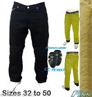 Mens Black Motorcycle Jeans Full Lined Knitted Kevlar® CE Armour - Size 34