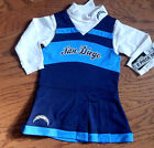 San Diego Chargers infant size Two piece Cheerleader Jumper Dress