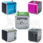 Portable Micro SD/TF USB Mini Speaker Music Player FM Radio Stereo PC MP3 TD-V26