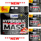 USN Hyperbolic Mass 6Kg / 6000g - Weight Gainer Mass Gain Powder - All Flavour