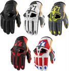 Icon Hypersport mens short leather motorcycle riding gloves