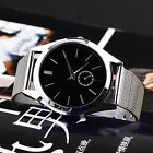 Fashion Luxury Men's Women's Stainless Steel Band Quartz Casual Wrist Watches