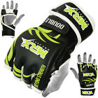 MMA Grappling Gloves MRX Muay Thai Kick UFC Cage Fight Boxing Glove Black Green