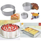4Styes Adjustable Stainless Scalable Mousse Cake Ring Layer Slicer Cutter Mould