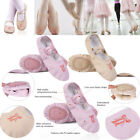 Girl Kid Fancy Flower Canvas Wedding Ballet Dancing Gymnastic Soft Shoes Slipper