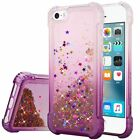 For Apple iPhone 5 5S SE Liquid Glitter TPU Quicksand Case Cover + Screen Guard