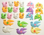 24 Fabric Embellishments CHOICE of  Rabbit/Dolphin/Doves with Jewels NEW