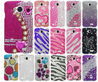 LG Verizon Transpyre Crystal Diamond BLING Hard Case Phone Cover +Screen Guard