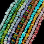 "3-5x8-13mm Natural Gemstone Freeform Rondelle Disc Spacer beads Jewelry 15"" lot"