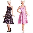 Hell Bunny Mystical 50S Pink Black Cupcake Rockabilly Vintage Party Prom Dress