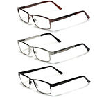 Large Size Men Metal Rectangle Reading Glasses Fashion Readers Various Strengths